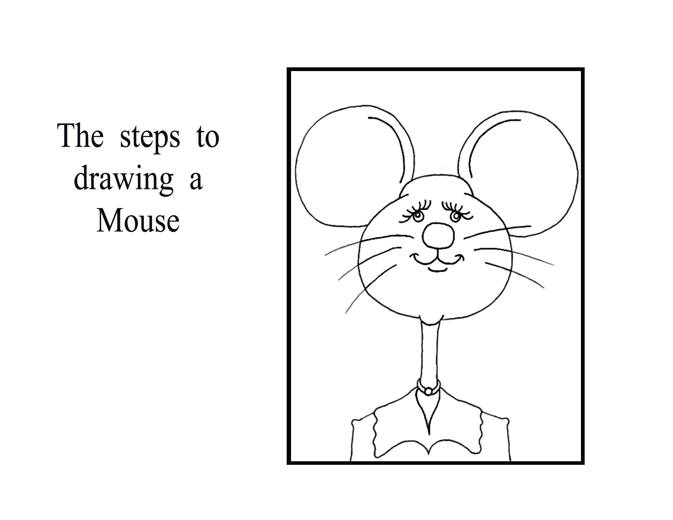 Step by step lessons animal cartoons for How to draw a cartoon mouse step by step